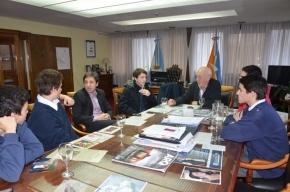 El Vicegobernador Crocianelli fue entrevistado por alumnos del Colegio Monseñor Alemán