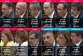 España: condenaron a nueve líderes independentistas catalanes por sedición