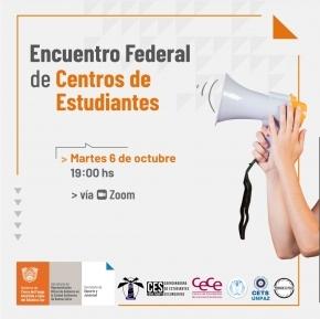 Esta tarde convocan a participar del primer Encuentro Federal de Centros de Estudiantes