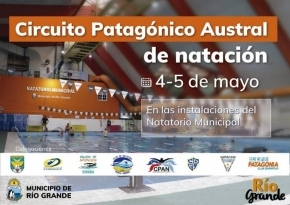 Este fin de semana se realizará en Río Grande el Circuito Patagónico Austral de Natación