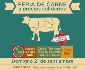 Feria de Carne organizada por cooperativas y grupo de familias