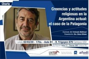 """Fortunato Mallimaci abordará las """"Creencias y actitudes religiosas en la Argentina actual: el caso de la Patagonia"""""""