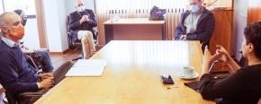 Funcionarios de Educación e Industria se reunieron con el rector de la UNTDF para trabajar en una oferta académica acorde al proyecto productivo de la provincia