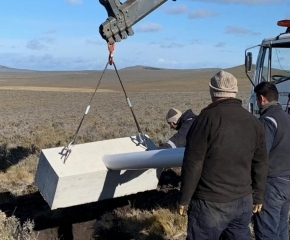 Instalan la primera turbina eólica en Tierra del Fuego