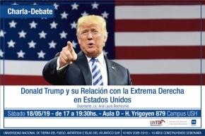 """Invitan a la charla debate """"Donald Trump y su relación con la extrema derecha en Estados Unidos"""""""