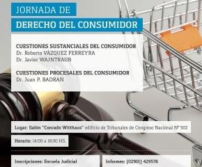 Invitan a participar de Jornada de Derecho del Consumidor