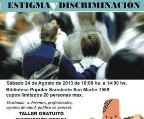 """Invitan a participar del """"Taller de Reflexión: Estigma y Discriminación"""""""