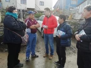Juntos por Tierra del Fuego realizó una caminata junto con el candidato a intendente Gustavo Ventura