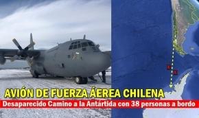 La Armada de Chile informó que perdió contacto con un avión que se dirigía a la Antártida