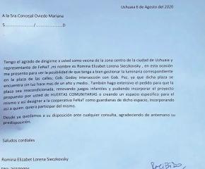 La FeNaT se reunió con la concejal Oviedo para transmitirle las problemáticas de los barrios altos de Ushuaia