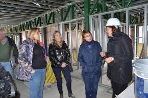 La Gobernadora Ríos recorrió la construcción del Centro de Salud de Atención primaria N° 8