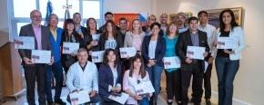 La ministro Cubino encabezó el acto de reconocimiento a los docentes que cumplieron funciones en la Escuela Provincial 38 en la Antártida