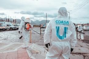 La Municipalidad de Ushuaia intensifica la desinfección masiva en sitios claves de la ciudad