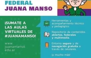 "La Provincia adhirió a la Plataforma Federal Educativa ""Juana Manso"""