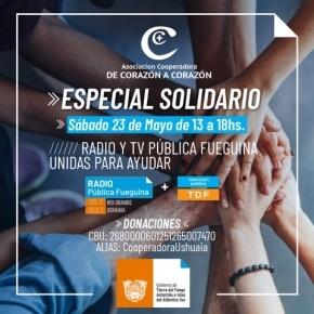 La Radio Pública y TV Pública fueguina realizan una Jornada Solidaria en beneficio de la Cooperadora del Hospital Regional Ushuaia
