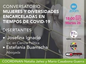 La Red de Mujeres Radicales, Cantera Popular y UCR Diversidad invitan a una charla sobre Mujeres y Diversidades encarceladas en tiempos de Covid-19