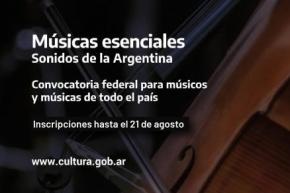 La Secretaría de Cultura a músicos locales para el Programa Nacional Músicas Esenciales