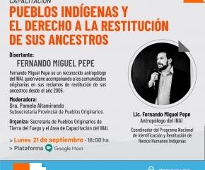 La Secretaría de Pueblos Originarios y el INAI capacitarán sobre restitución de restos humanos indígenas