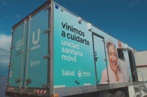La Unidad Sanitaria Móvil atenderá en la Plaza de los Bomberos esta semana