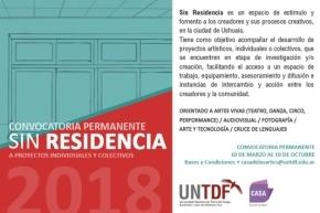 """La UNTDF abre la convocatoria de proyectos """"Sin Residencia"""""""