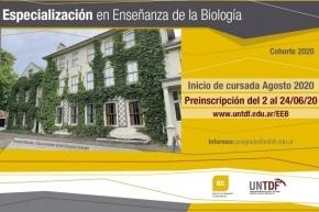 La UNTDF abre nuevo ingreso al Posgrado en Enseñanza de la Biología