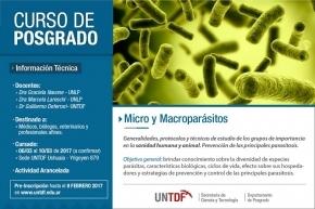 La UNTDF dictará un curso de posgrado sobre Micro y Macroparásitos