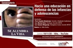 """La UNTDF realizará este jueves el conversatorio """"Hacia una educación en defensa de las infancias y adolescencias"""""""