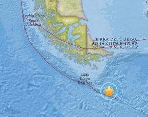 Nuevo sismo en el Pasaje de Drake a 400 km de Ushuaia