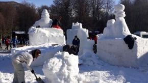 Participarán trece equipos en el Festival de Esculturas de Nieve de Ushuaia