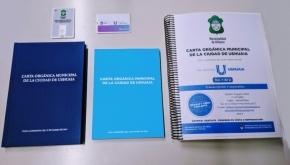 Presentaron ediciones en audiolibro y Braille de la Carta Orgánica Municipal