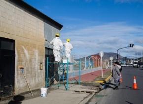Presos realizan tareas de mantenimiento en la Dirección Provincial de Puertos