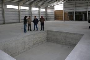 Río Grande: Comenzaron los trabajos interiores en el complejo de Gimnasia Deportiva que construye el Munipio