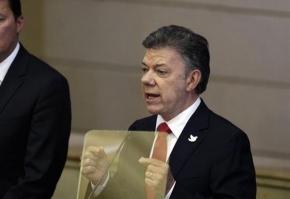 """Santos habla del Mundial como ejemplo para una unión """"por la paz"""""""