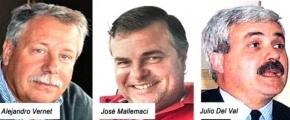 Señalan a los radicales Vernet, Mallemaci y Del Val como eslabones de la Ruta del Dinero K
