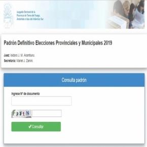 Se encuentra disponible el padrón electoral definitivo para los comicios provinciales y municipales