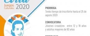 Se extienden las inscripciones para los Juegos Culturales Evita 2020