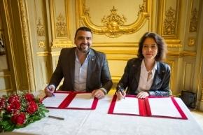 Se firmó un convenio de cooperación para divulgación cultural entre el Municipio de Ushuaia y la Embajada de Francia en Argentina