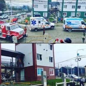 Se registró un incendio en una vivienda de Río Milna y Bahía de los Abrigos con cinco menores y un mayor intoxicados por monóxido de carbono