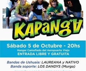 Super recital de Kapanga en Ushuaia anticipando el Aniversario de la Ciudad