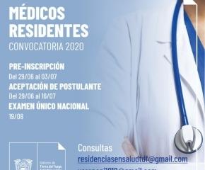 Tierra del Fuego, Antártida e Islas del Atlántico Sur, participará de la Convocatoria Nacional de Médicos Residentes 2020