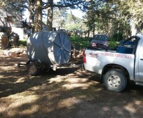 Tolhuin: se colocaron tanques de reservorios de agua para los incendios de interfase