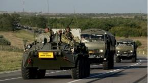 Ucrania asegura que destruyó columna de vehículos blindados rusos